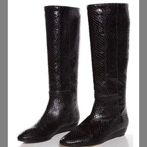 Loeffler Randall Snakeskin Boots